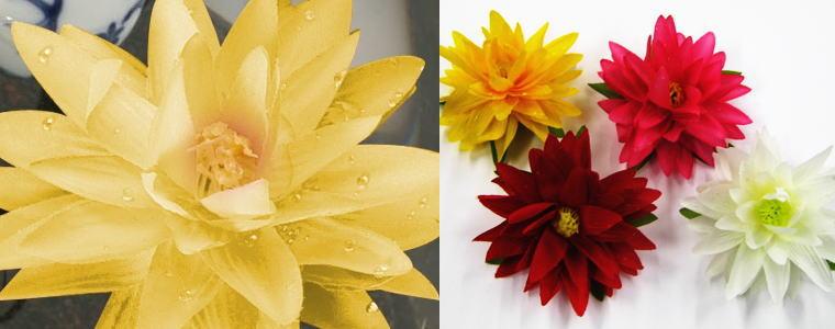 スイレンの造花
